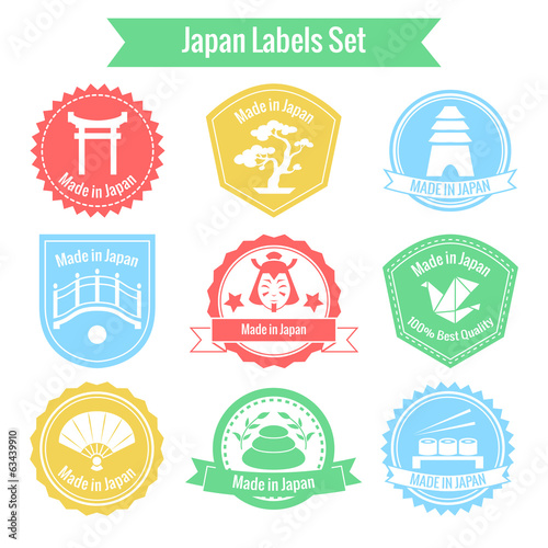 Made in Japan labels set