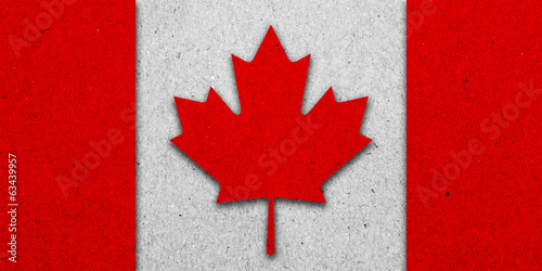 Canada grunge flag on paper background