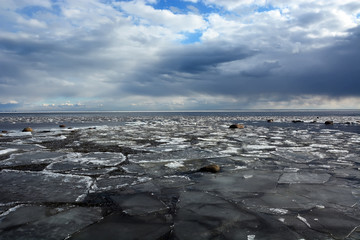 Frozen sea shore