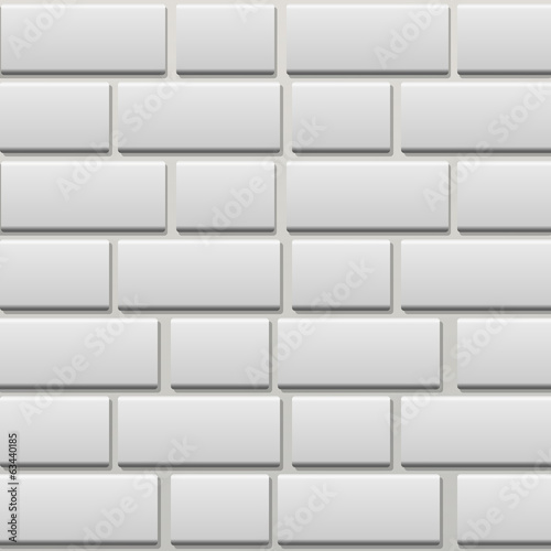 white brick wal