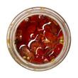 Vasetto di peperoncini piccanti
