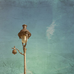 antique lampstand in paris,france Europe