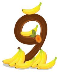 Nine bananas