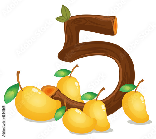 Five mangoes
