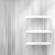 Layers Blank light wooden shelf.   EPS10