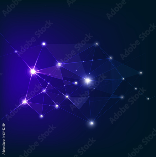 Abstract futuristic technology mesh network background, vector i