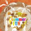 Retro grunge summer background