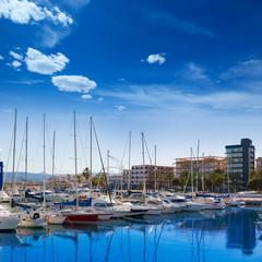 Gandia Nautico Marina boats in Mediterranean Spain