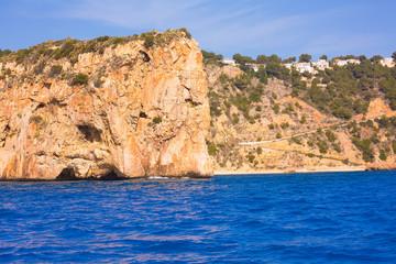 Javea playa Ambolo isla Descubridor Xabia Alicante