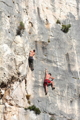 Climbing (Calanques de Marseille - France)