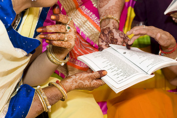traditional Hindu wedding , Rajasthan , India