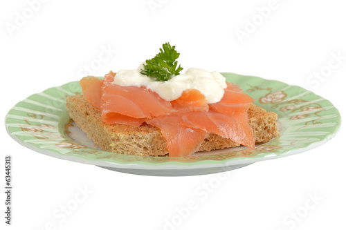 Smoked Salmon and Cottage Cheese on Toast