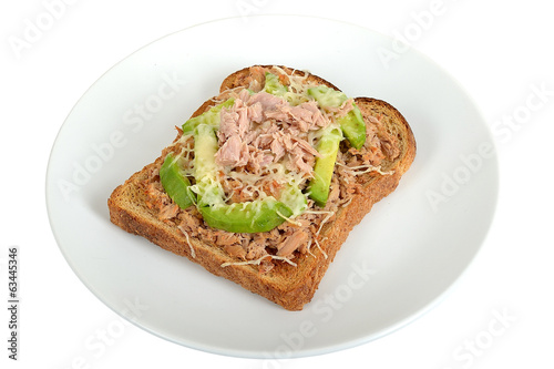 Tuna and Avocado Melt