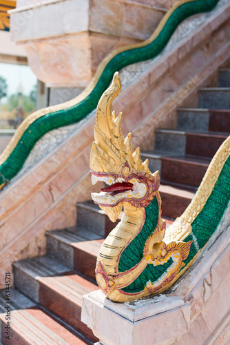 Dragons at Chalong Temple in Phuket Thailand