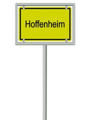 Hoffenheim - Ortsschild