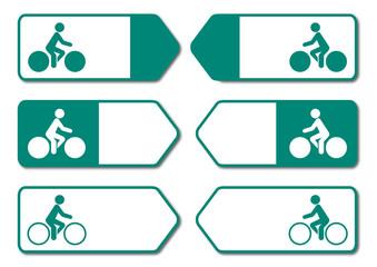 Panneau piste cyclable.