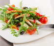 Fresh vegetables salad with chicken