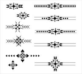 Graphic decorative elements delimiter set