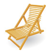 beach chair vector illustration