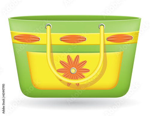 beach bag vector illustration