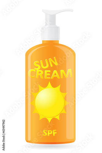 sun cream vector illustration