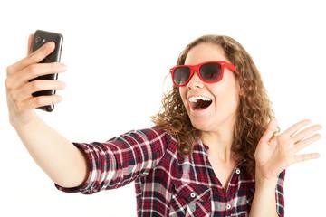 Junges Mädchen macht einen Selfie von sich