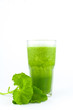 Pennywort or asiatic herbal Smoothie in glass