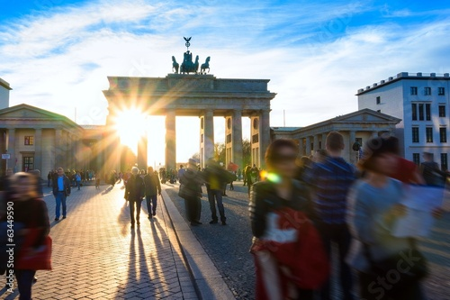 canvas print picture Spring at Brandenburg Gate