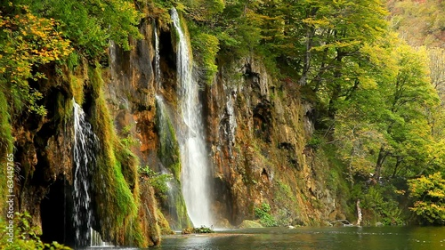 Waterfall. Plitvice, Croatia