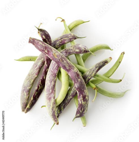 Bean pods isolated