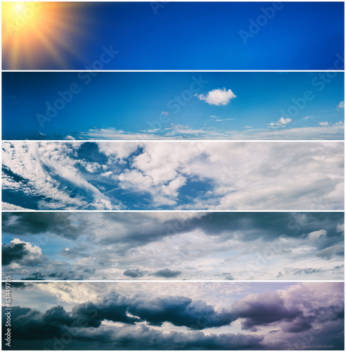 Set of sky banners