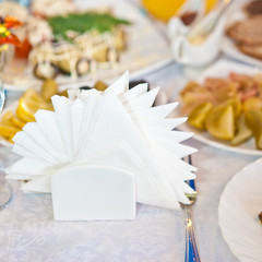 paper napkins on decorated table
