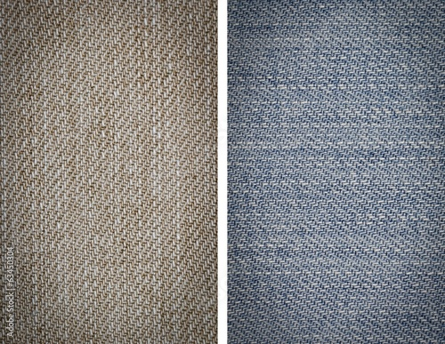Set fabric jeans texture background