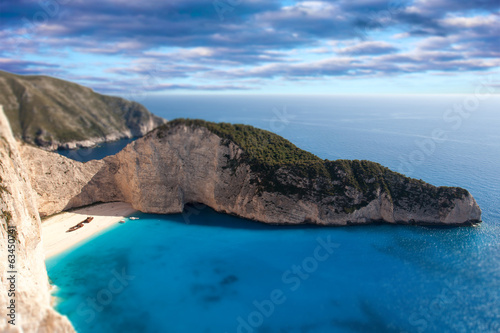 shipwreck beach in zante