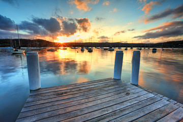 Sunset at Point Frederocl wharf Australia