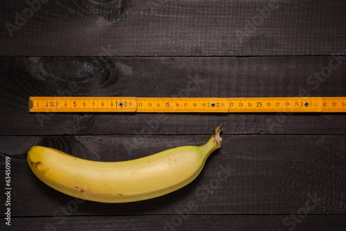Carpenter's yellow ruler & banana