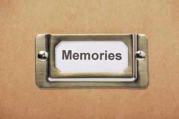 Drawer Label for Memories
