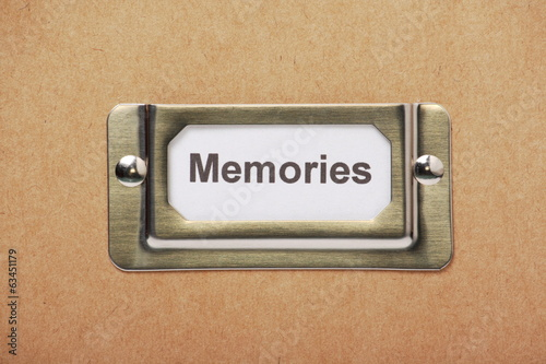Drawer Label for Memories