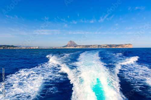 javea with mongo and san antonio cape from boat Poster