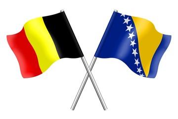 Flags: Belgium and Bosnia and Herzegovina