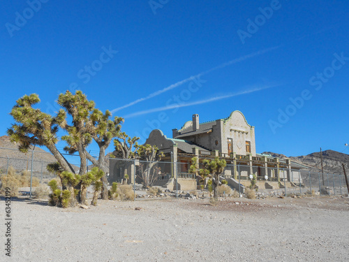 Railway station ruins in Rhyolite