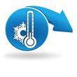 température négative sur bouton bleu