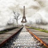 Fototapeta Parigi in treno vintage