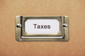 Taxes Storage Drawer Label