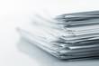 Leinwanddruck Bild - Stack of white papers