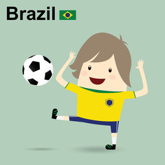 brazil national football team, businessman happy is playing socc
