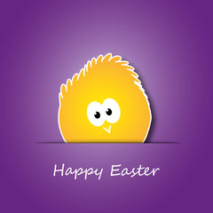 Easter Card with Little Chicken Design