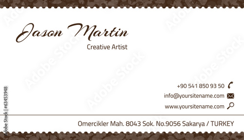 Brown decorative business card