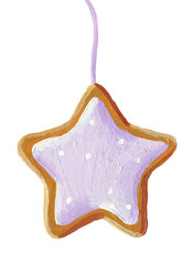 Gingerbread christmas star cookie