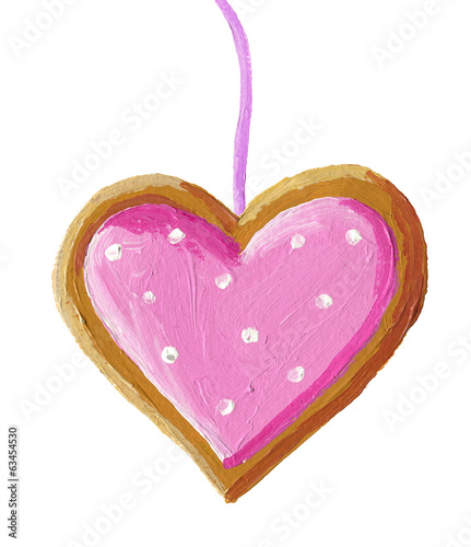 Gingerbread christmas heart cookie